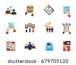 head hunting icon set   Shutterstock .eps vector #679705120