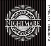 nightmare silvery emblem | Shutterstock .eps vector #679706728
