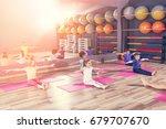 children at physical education... | Shutterstock . vector #679707670