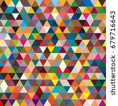 abstract geometric colorful... | Shutterstock . vector #679716643