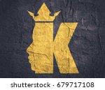 king logo. royal luxury emblem. ... | Shutterstock . vector #679717108