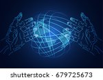 abstract technology background... | Shutterstock .eps vector #679725673