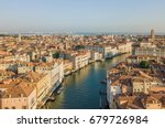 Venice Grand Canal Aerial View...
