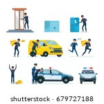 set of offenders  thief... | Shutterstock .eps vector #679727188