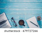 top view casual lifestyle of... | Shutterstock . vector #679727266