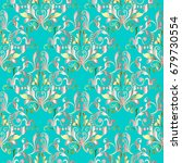 damask seamless pattern. floral ... | Shutterstock .eps vector #679730554