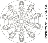 mandala. coloring book pages. | Shutterstock . vector #679732558