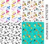 fidget spinner seamless...   Shutterstock .eps vector #679732738