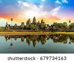 Colorful Sunrise In Angkor Wat  ...