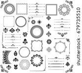 vintage set of vector...   Shutterstock .eps vector #679735510