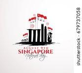 vector illustration august 9th... | Shutterstock .eps vector #679737058