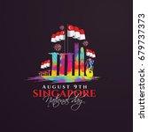 vector illustration august 9th...   Shutterstock .eps vector #679737373