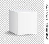 blank white carton 3d box icon. ... | Shutterstock .eps vector #679737790