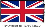 uk flag grunge background.... | Shutterstock . vector #679743610
