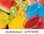 fresh fruits and natural juice | Shutterstock . vector #67974493