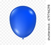 realistic blue balloon isolated ... | Shutterstock .eps vector #679746298