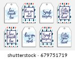 romantic cards collection.... | Shutterstock .eps vector #679751719