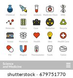 outline icons thin flat design  ... | Shutterstock .eps vector #679751770