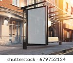 bus station with blank banner... | Shutterstock . vector #679752124
