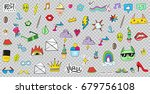 big set of patches elements... | Shutterstock .eps vector #679756108