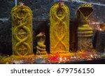 arunacheshvara temple. candle...   Shutterstock . vector #679756150