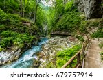 vintgar gorge  beauty of nature ... | Shutterstock . vector #679757914