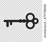 key vector icon. key flat... | Shutterstock .eps vector #679758400