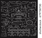 big collection of chalkboard... | Shutterstock . vector #679758730