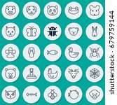 zoology icons set. collection...   Shutterstock .eps vector #679759144