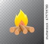 vector cartoon campfire color... | Shutterstock .eps vector #679759780