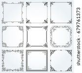 decorative frames and borders... | Shutterstock .eps vector #679761373