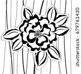 black white rose | Shutterstock .eps vector #679761430