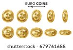 euro gold coins set. realistic... | Shutterstock . vector #679761688