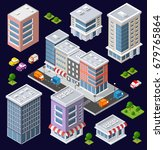 set of modern isometric... | Shutterstock .eps vector #679765864