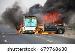 blur small truck with pickup...   Shutterstock . vector #679768630