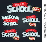 blackboard with greeting  first ... | Shutterstock .eps vector #679773328