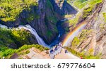 voringsfossen waterfall.... | Shutterstock . vector #679776604