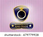 golden emblem or badge with... | Shutterstock .eps vector #679779928