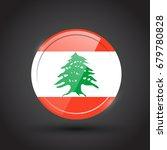 3d rendering of lebanon button... | Shutterstock .eps vector #679780828
