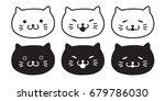 Stock vector cat black cat kitten icon vector illustration 679786030