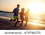 group of young friends running... | Shutterstock . vector #679786270