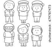 vector set of medical staff | Shutterstock .eps vector #679787473