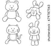 Stock vector vector set of animal dolls 679787563