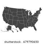 political map of usa  united... | Shutterstock .eps vector #679790650