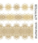 set of seamless ornamental... | Shutterstock .eps vector #679797028