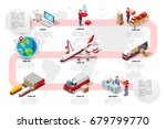 international trade logistics... | Shutterstock .eps vector #679799770