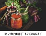 vegan diet food. detox drinks....   Shutterstock . vector #679800154