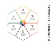 business infographics. outline... | Shutterstock .eps vector #679802260