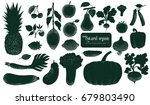 vector fruits and vegetables... | Shutterstock .eps vector #679803490