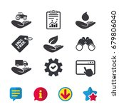 helping hands icons....